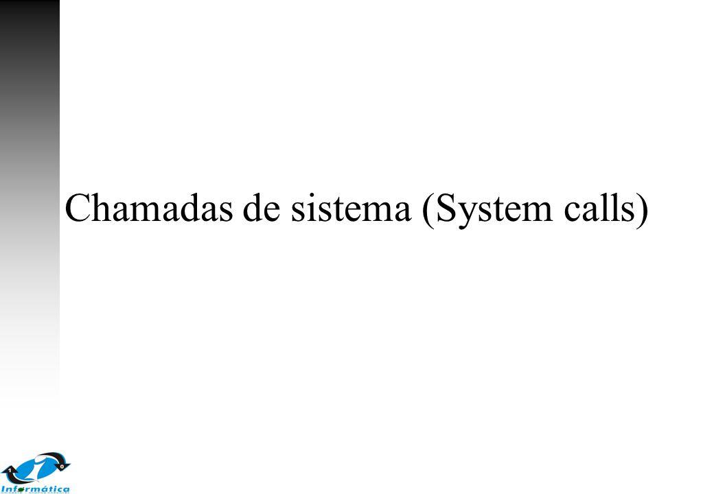 Chamadas de sistema (System calls)