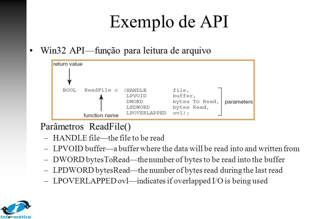 Exemplo de API Win32 API—função para leitura de arquivo