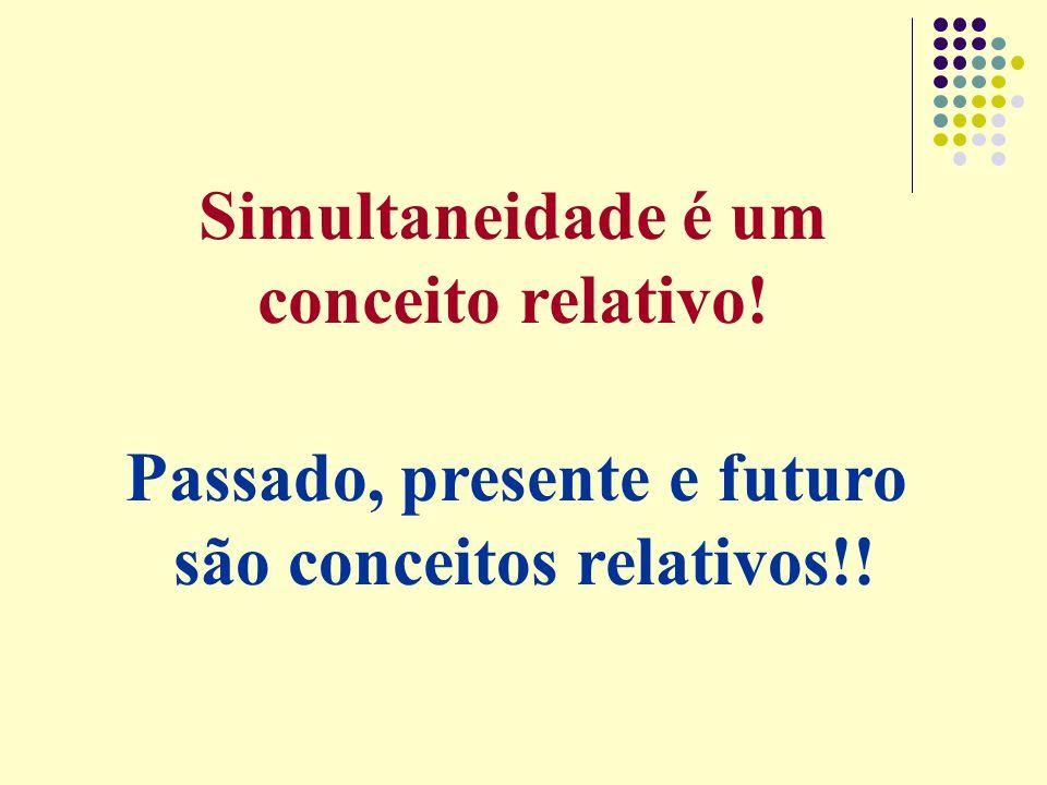Passado, presente e futuro são conceitos relativos!!