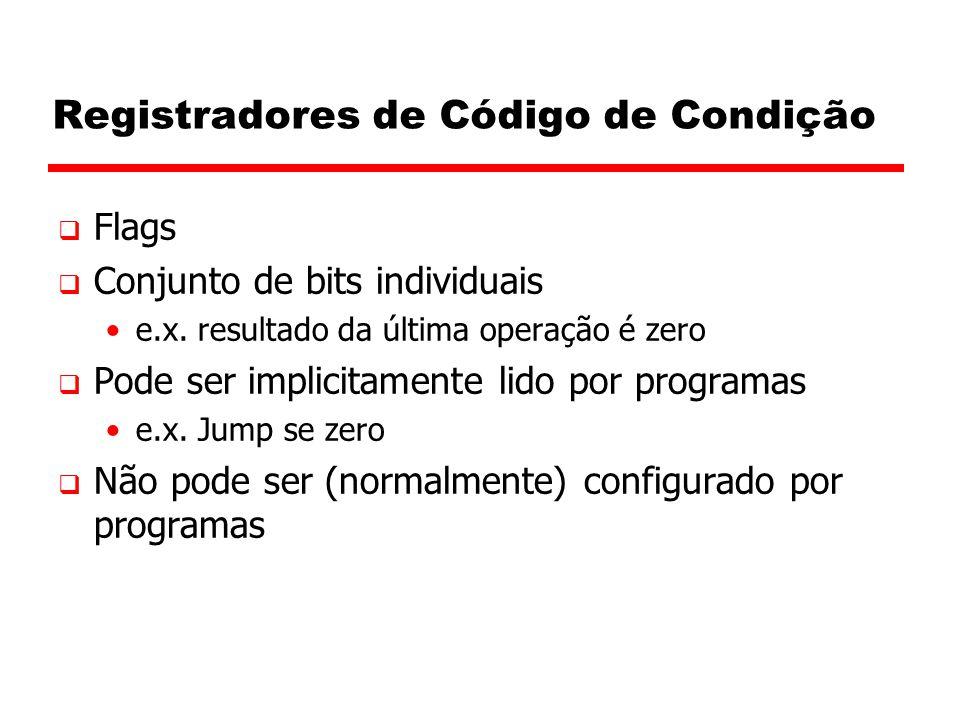 Registradores de Código de Condição