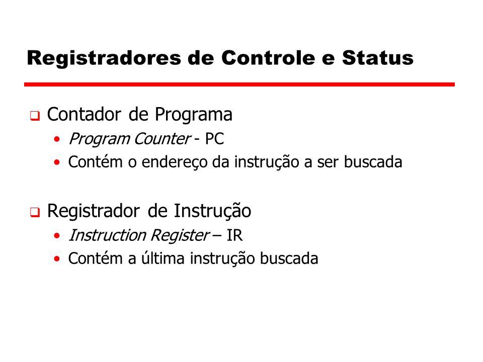 Registradores de Controle e Status