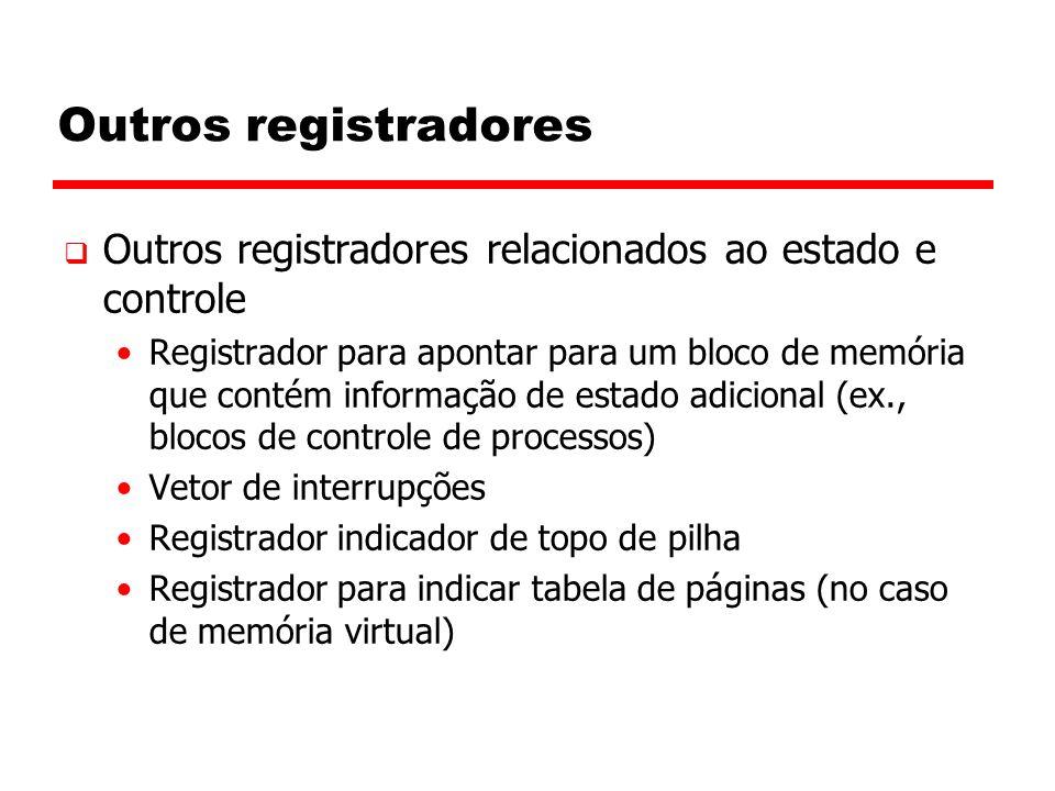 Outros registradores Outros registradores relacionados ao estado e controle.