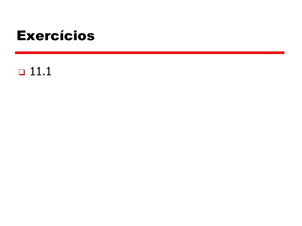 Exercícios 11.1