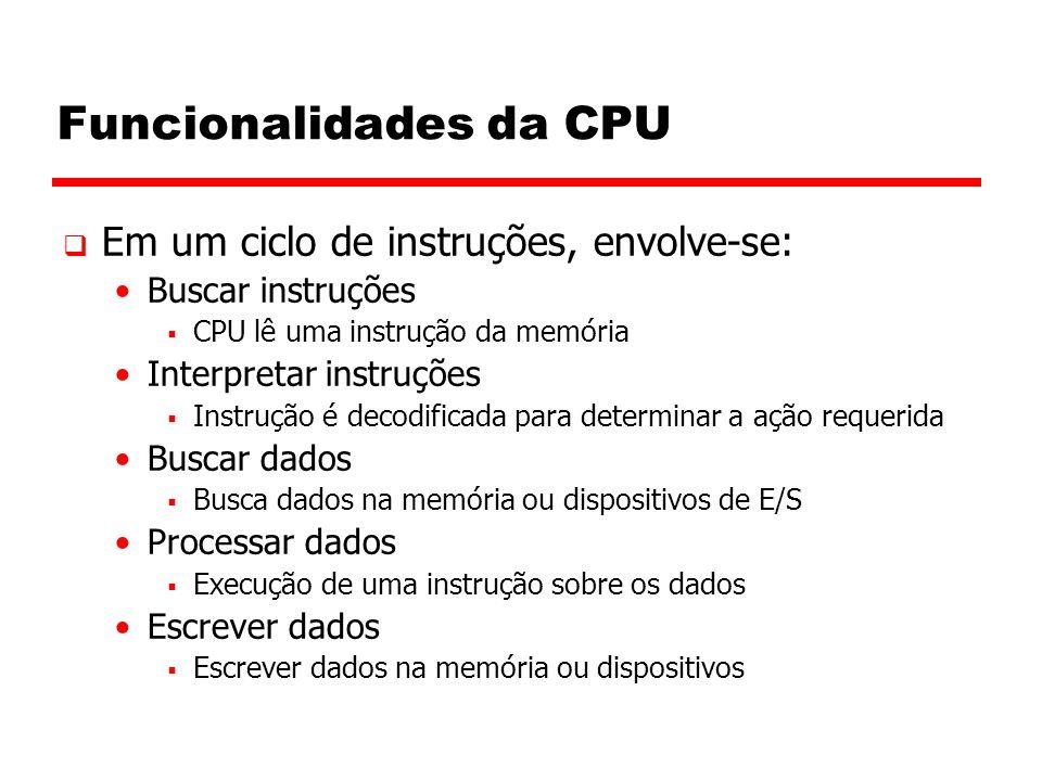 Funcionalidades da CPU