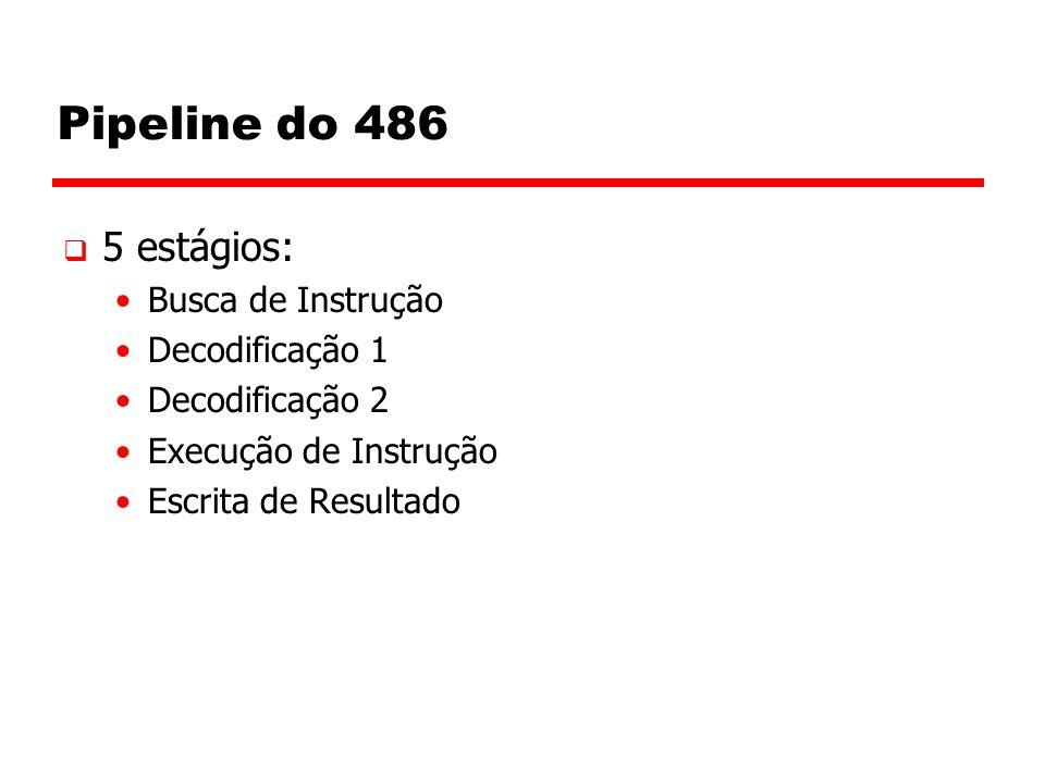 Pipeline do 486 5 estágios: Busca de Instrução Decodificação 1