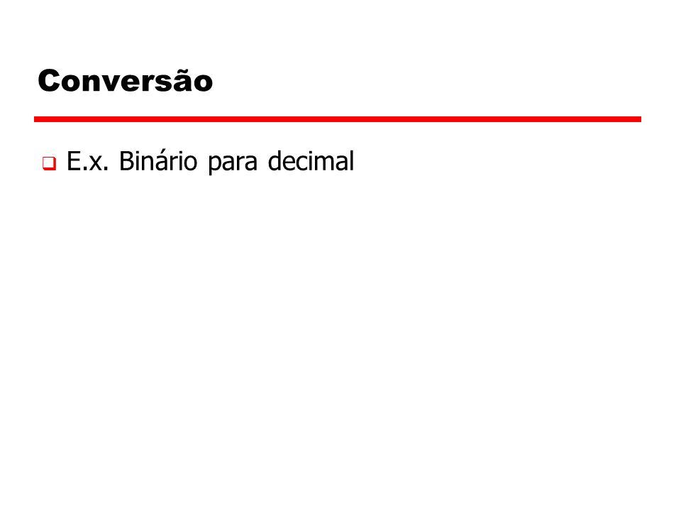 Conversão E.x. Binário para decimal 22