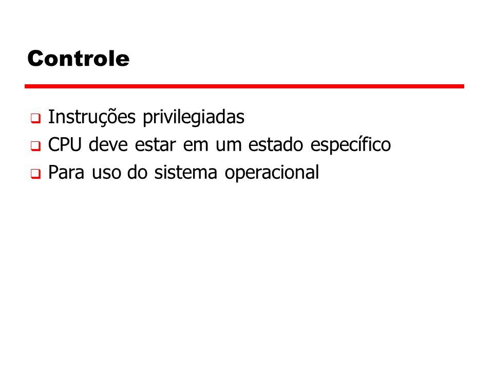 Controle Instruções privilegiadas