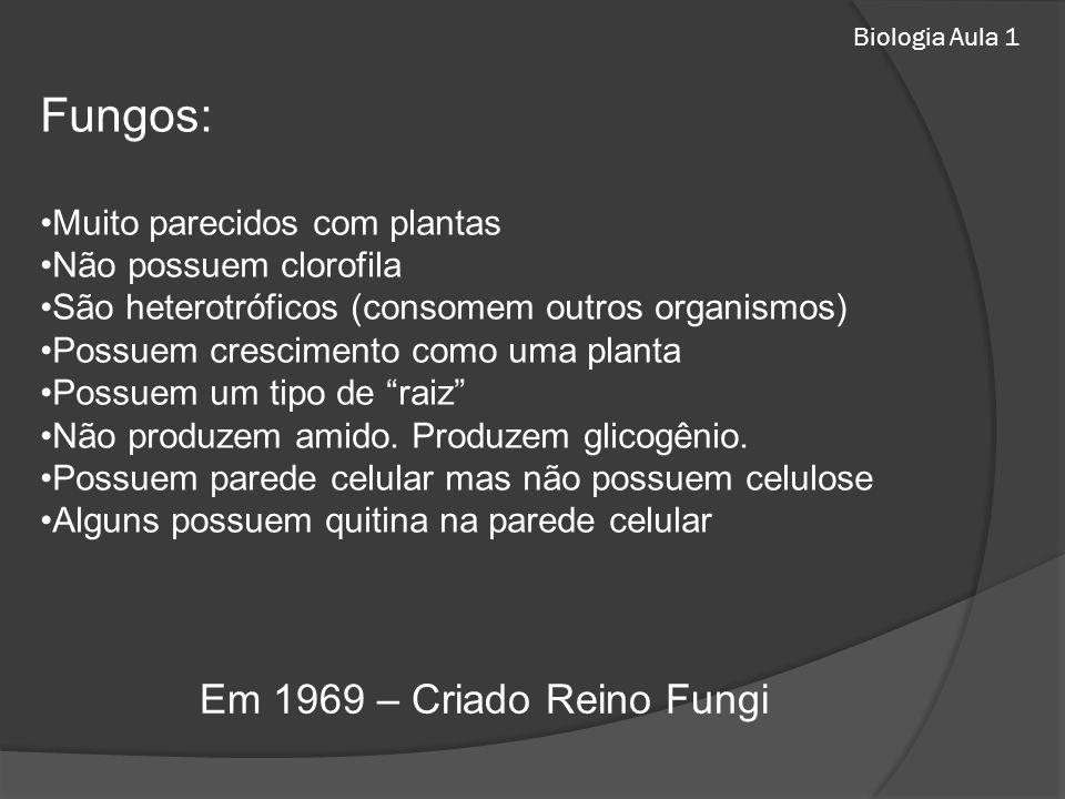 Fungos: Em 1969 – Criado Reino Fungi Muito parecidos com plantas