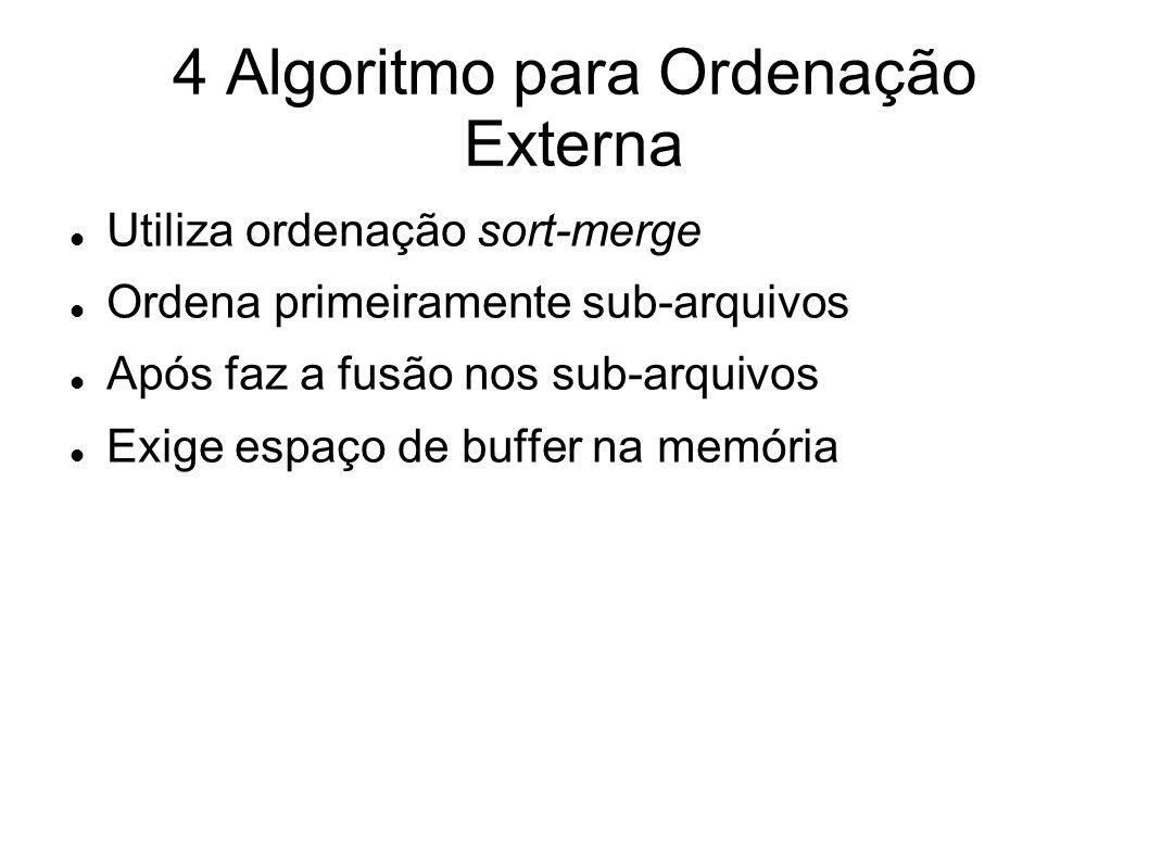 4 Algoritmo para Ordenação Externa