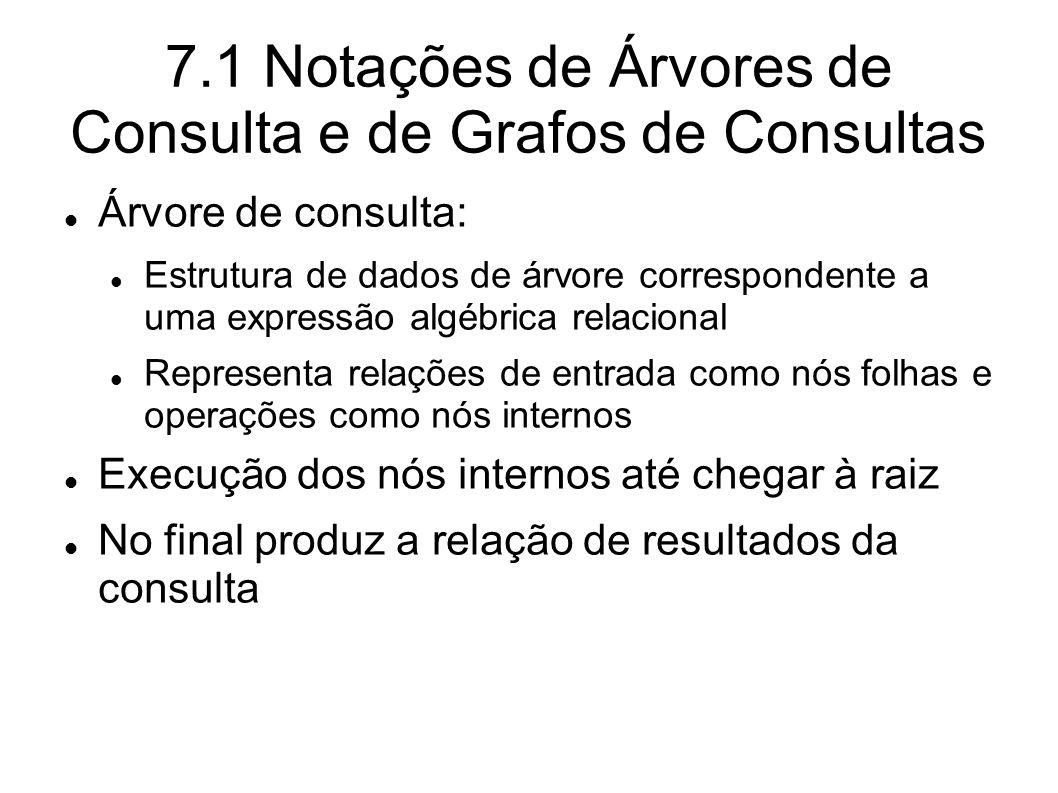 7.1 Notações de Árvores de Consulta e de Grafos de Consultas