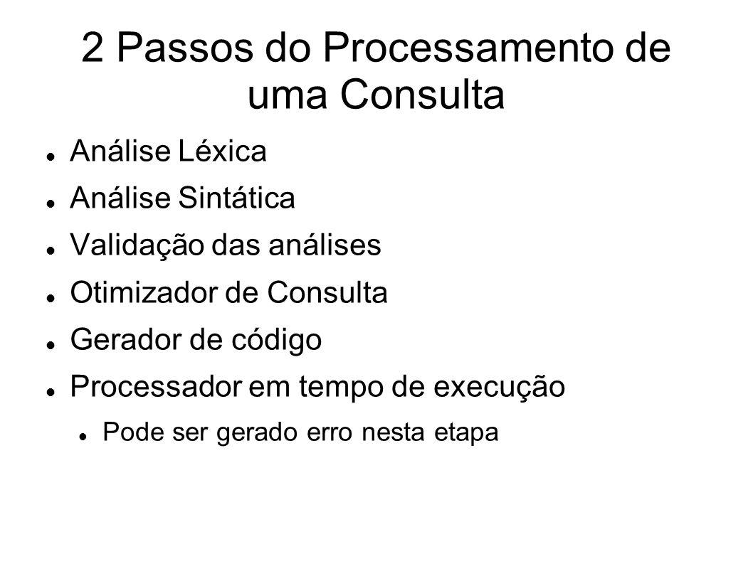 2 Passos do Processamento de uma Consulta