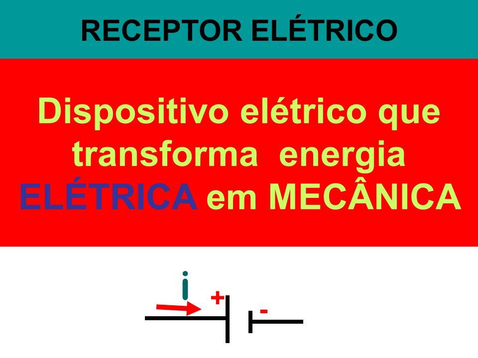 Dispositivo elétrico que transforma energia ELÉTRICA em MECÂNICA