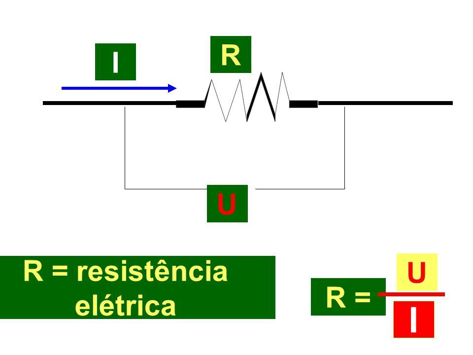 R = resistência elétrica