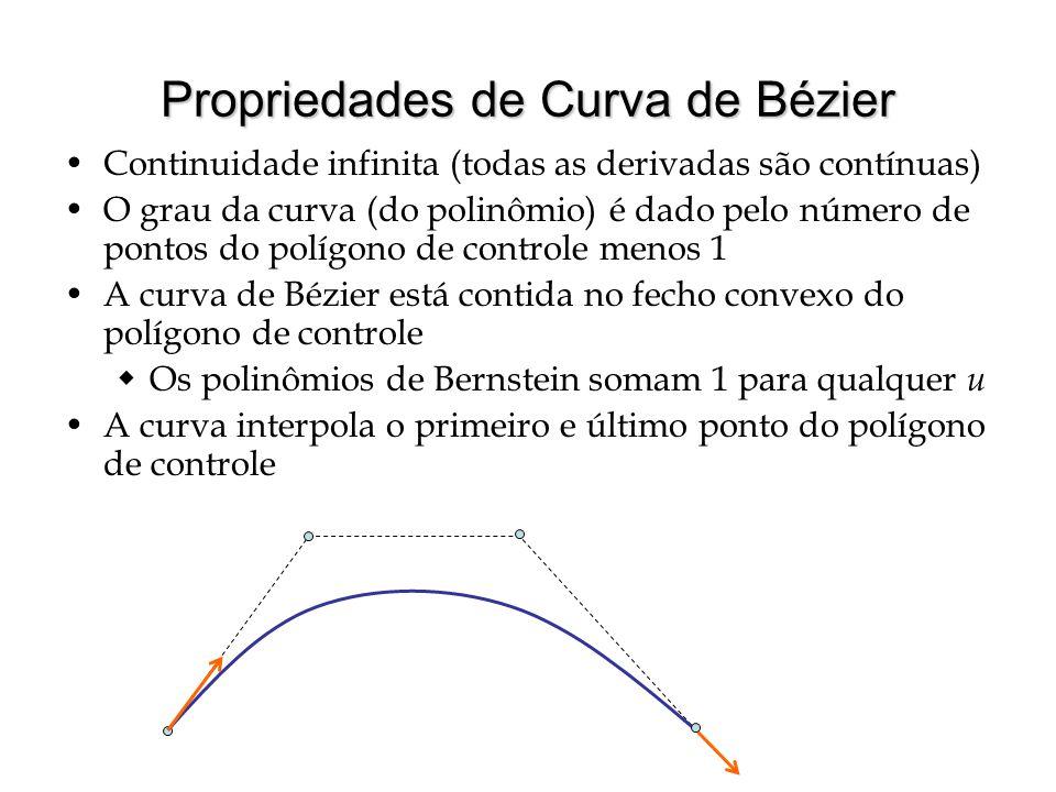 Propriedades de Curva de Bézier