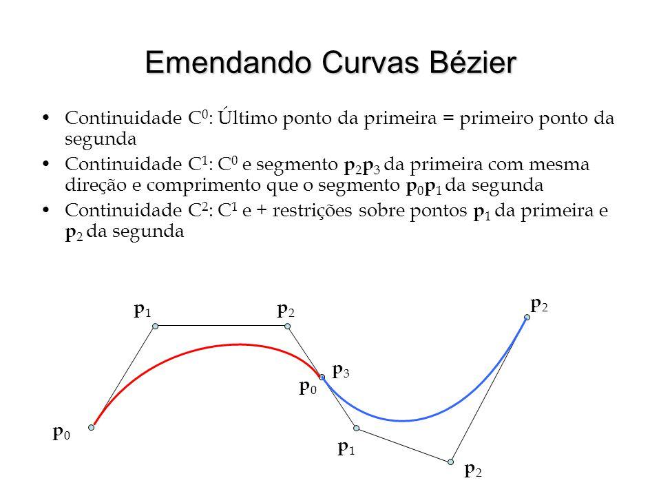 Emendando Curvas Bézier