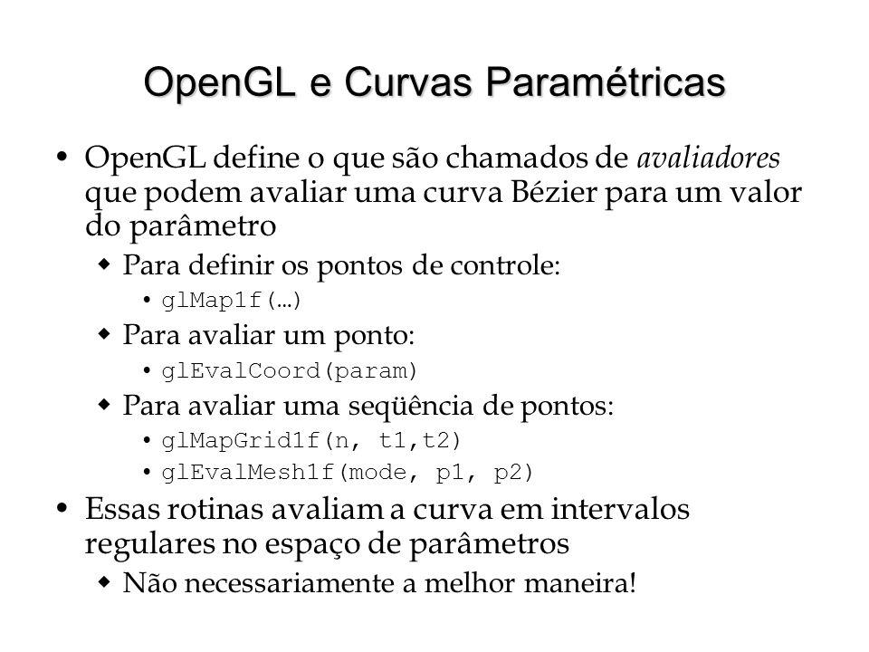 OpenGL e Curvas Paramétricas