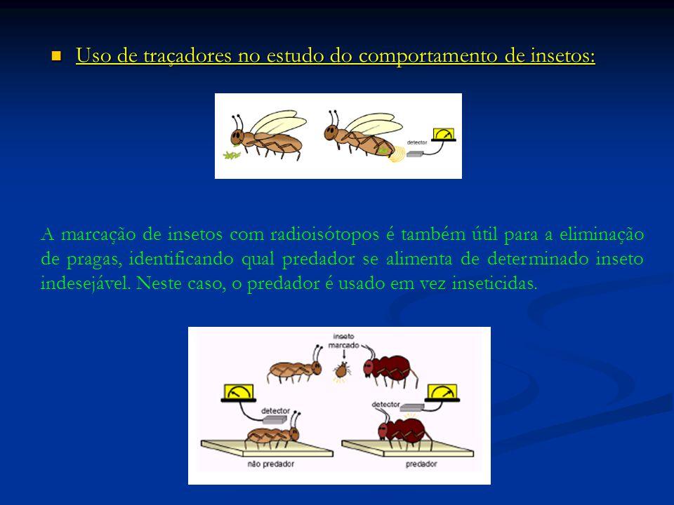 Uso de traçadores no estudo do comportamento de insetos: