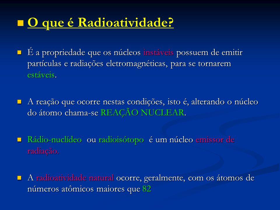 O que é Radioatividade
