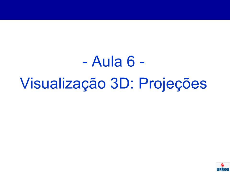 Visualização 3D: Projeções
