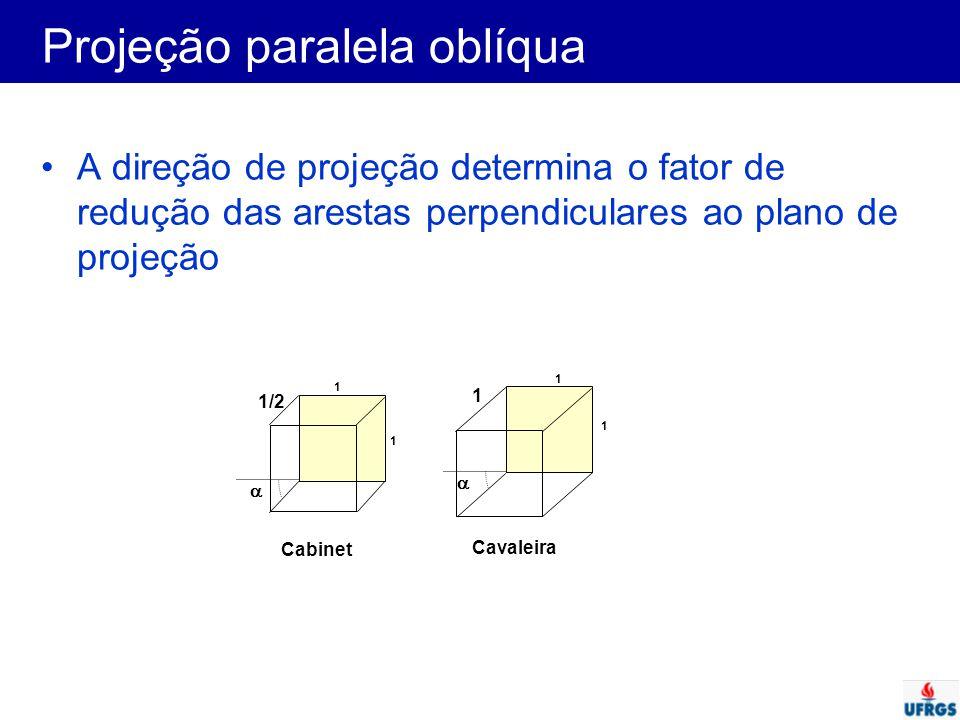 Projeção paralela oblíqua