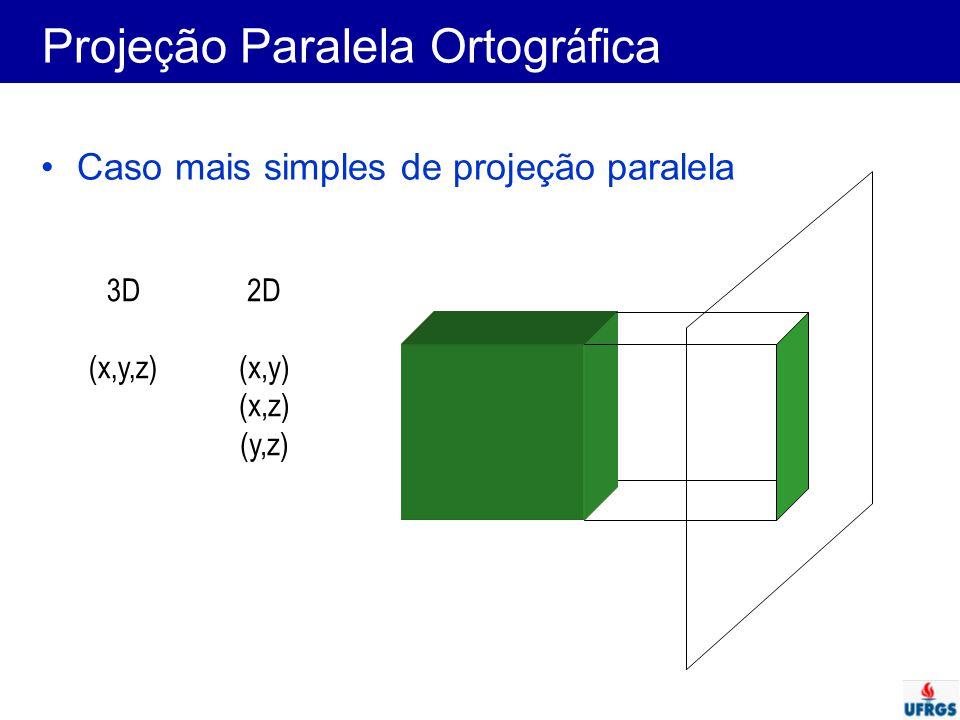 Projeção Paralela Ortográfica