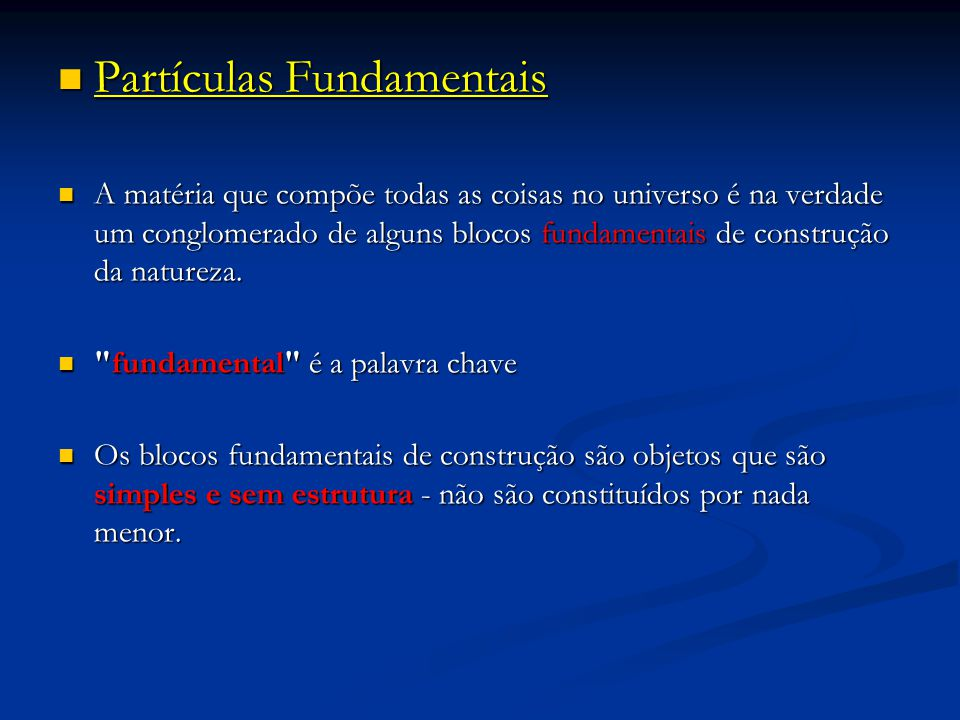 Partículas Fundamentais