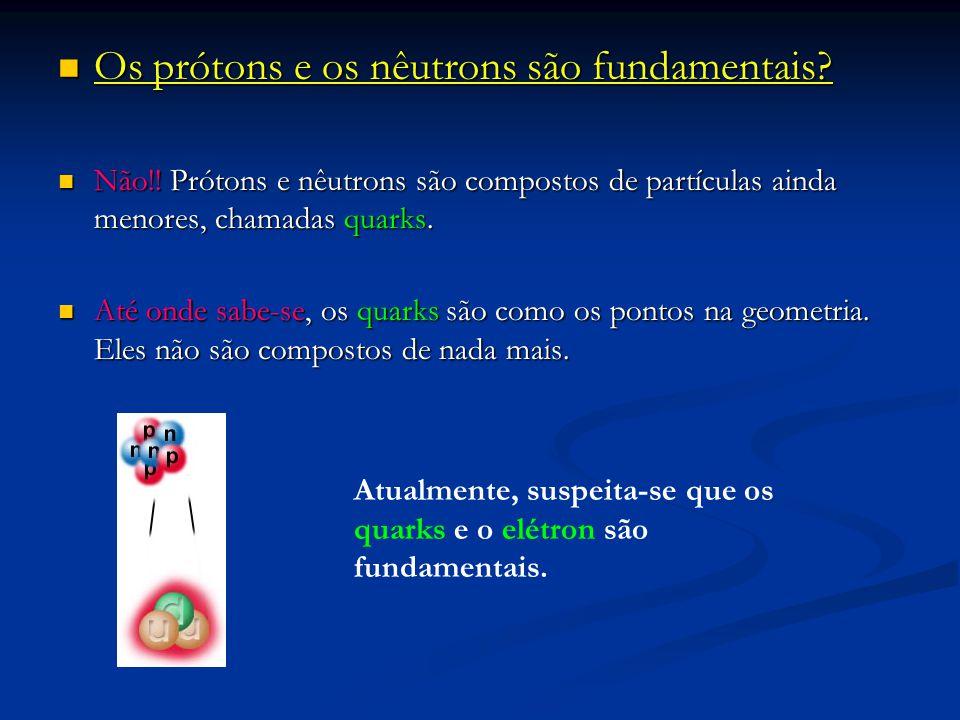 Os prótons e os nêutrons são fundamentais