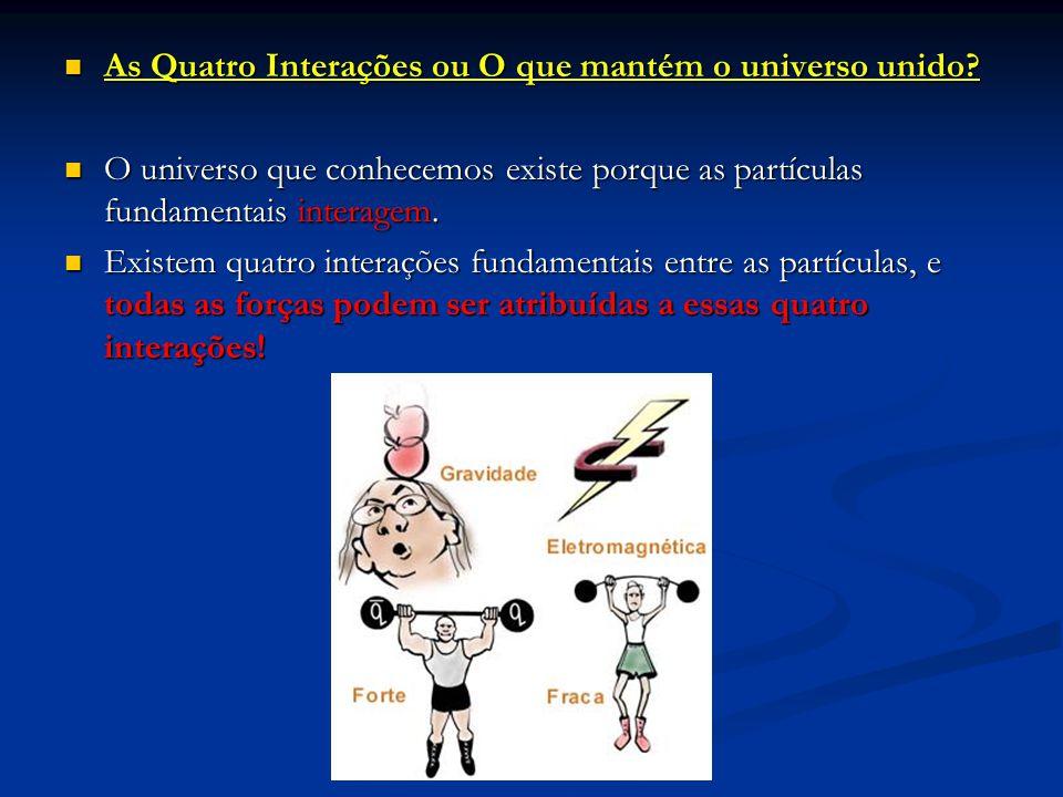 As Quatro Interações ou O que mantém o universo unido