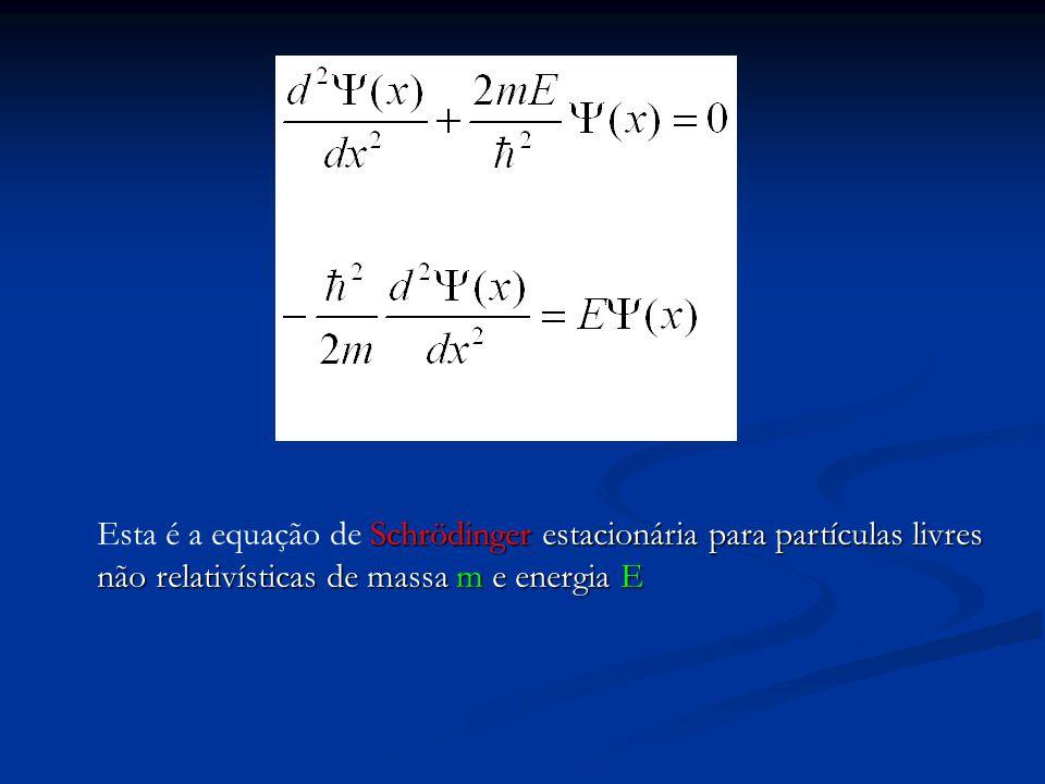 Esta é a equação de Schrödinger estacionária para partículas livres não relativísticas de massa m e energia E