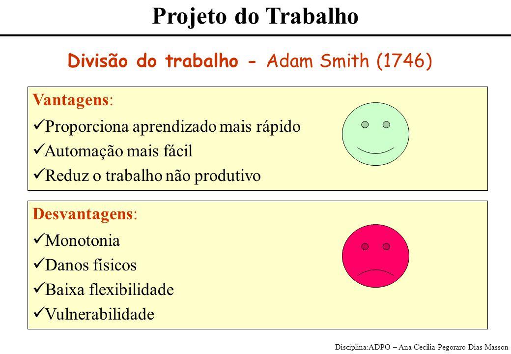 Divisão do trabalho - Adam Smith (1746)
