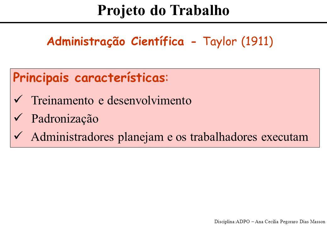 Administração Científica - Taylor (1911)