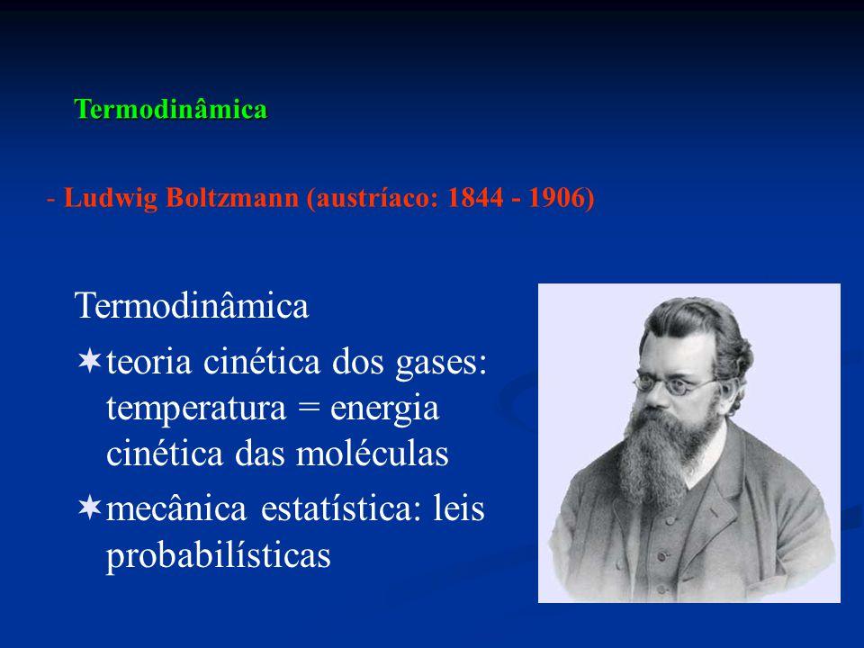 mecânica estatística: leis probabilísticas
