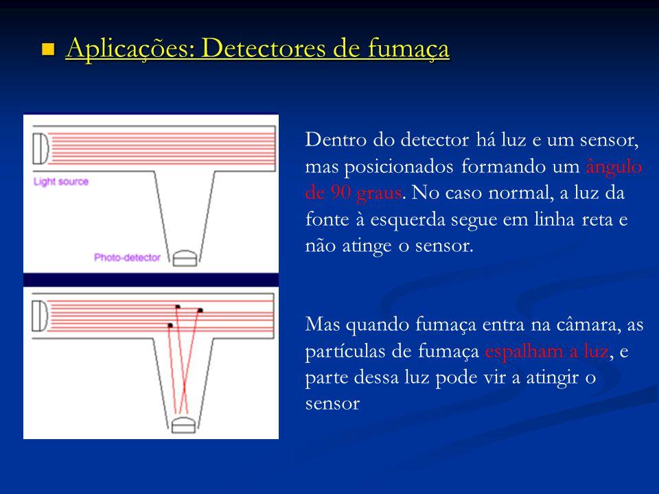 Aplicações: Detectores de fumaça