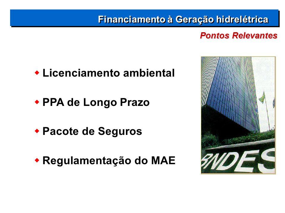 Licenciamento ambiental PPA de Longo Prazo Pacote de Seguros