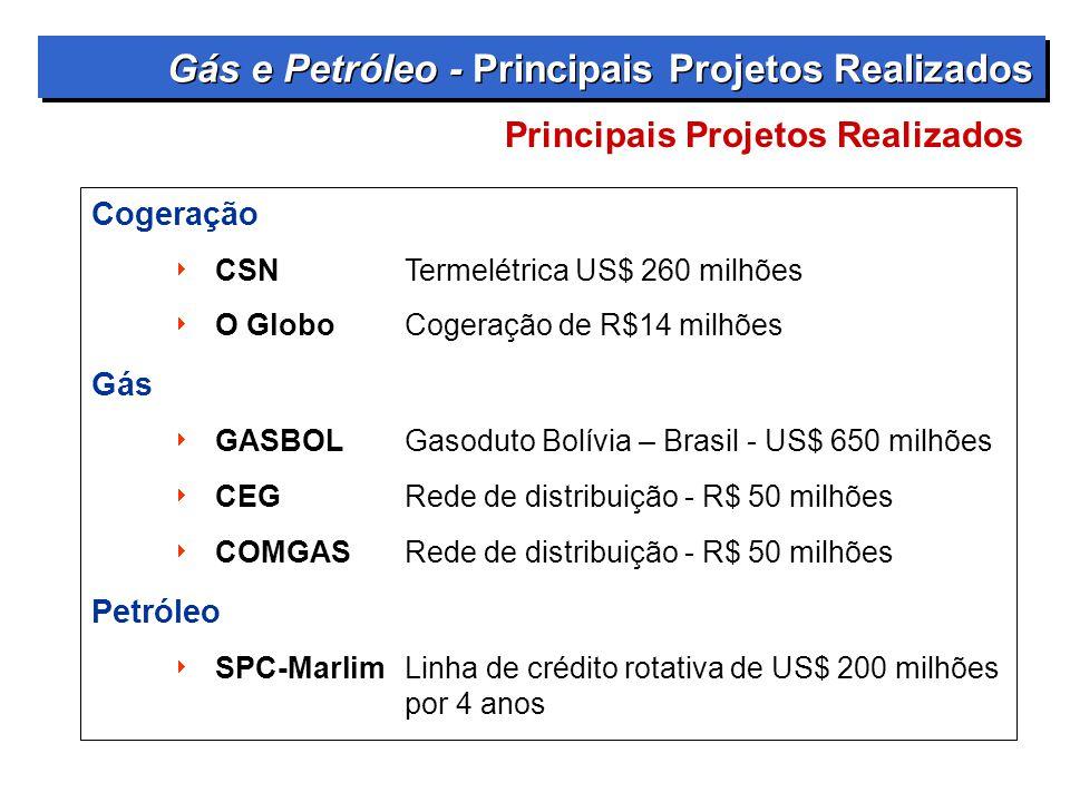 Gás e Petróleo - Principais Projetos Realizados