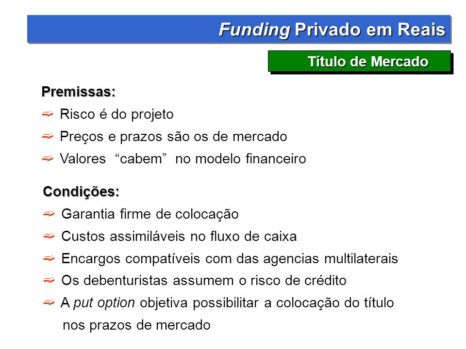 Funding Privado em Reais