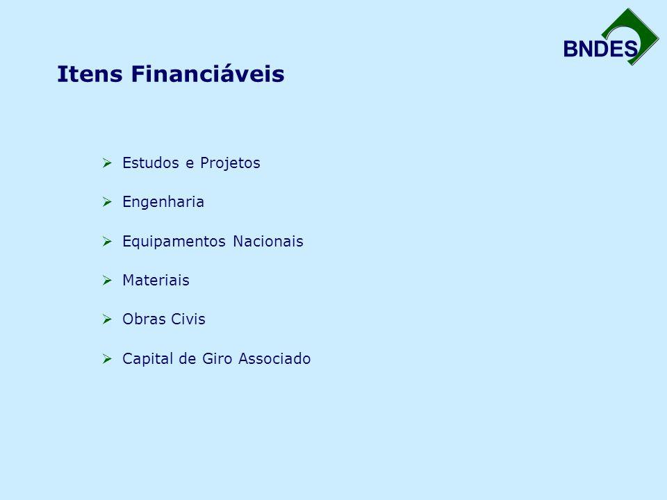 Itens Financiáveis Estudos e Projetos Engenharia