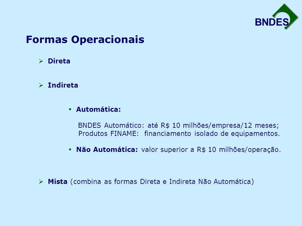 Formas Operacionais Direta Indireta Automática: