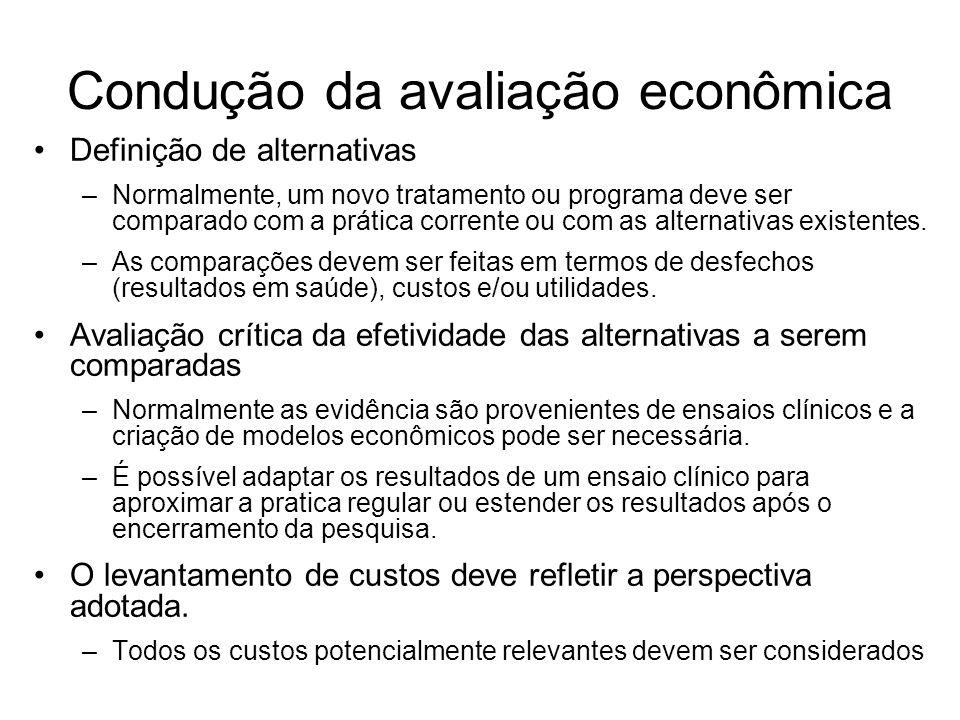 Condução da avaliação econômica