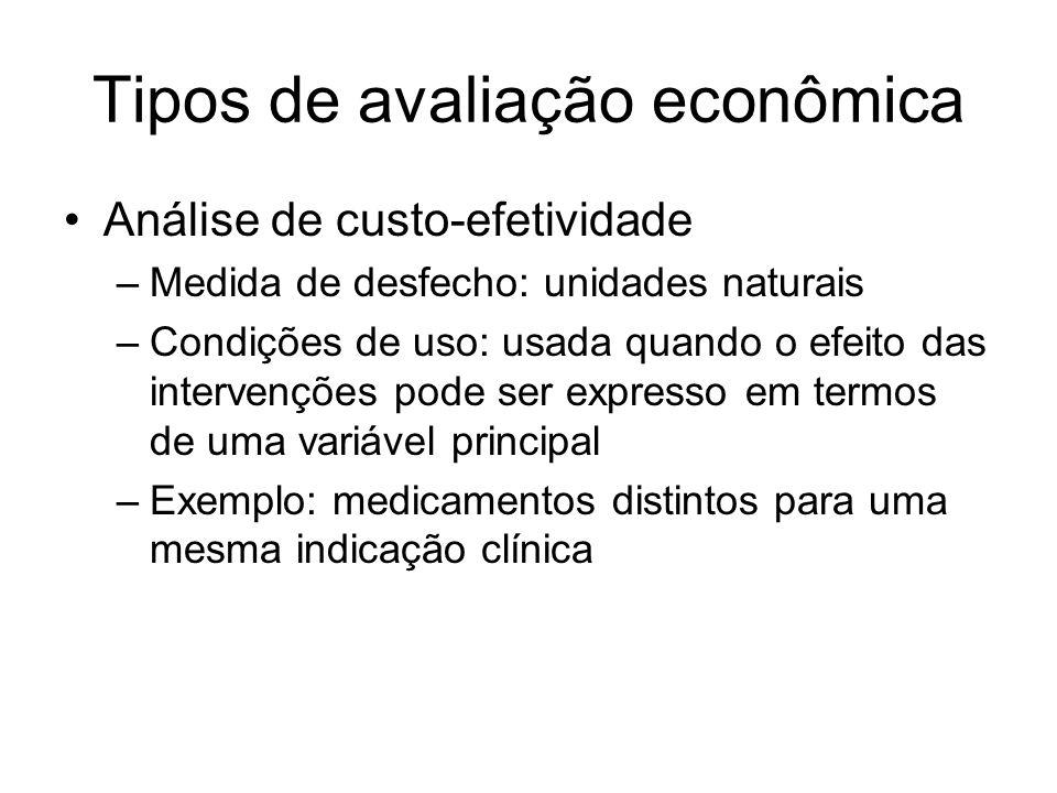 Tipos de avaliação econômica