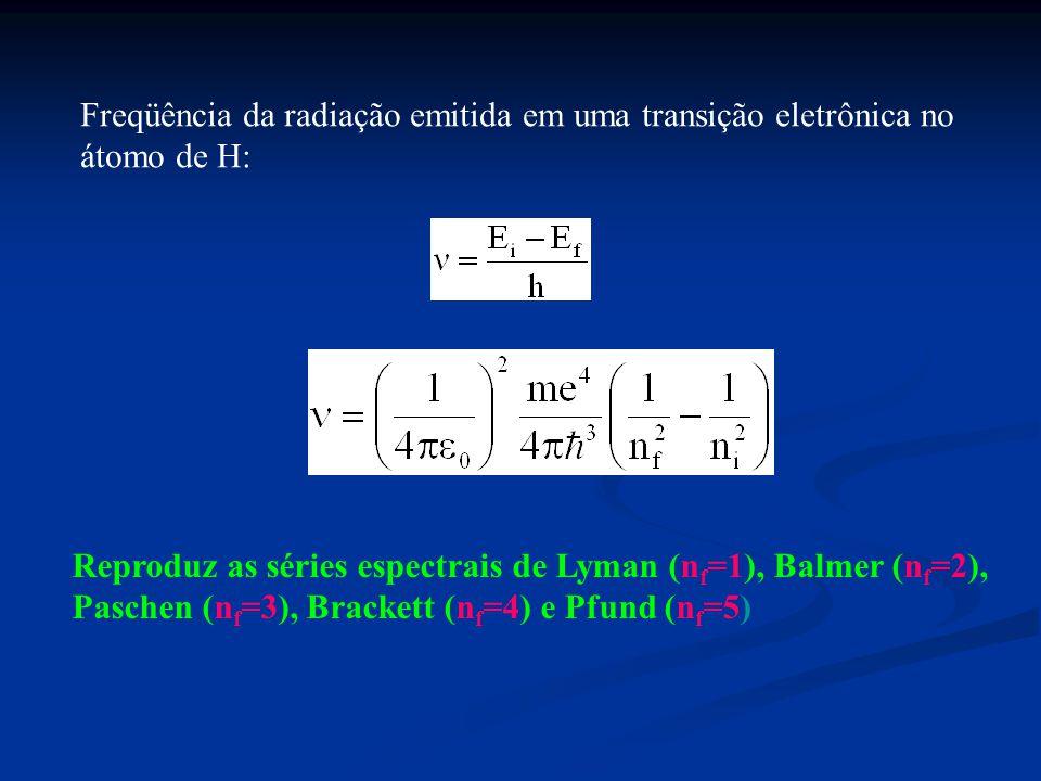 Freqüência da radiação emitida em uma transição eletrônica no