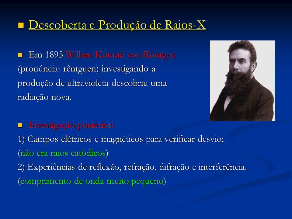 Descoberta e Produção de Raios-X