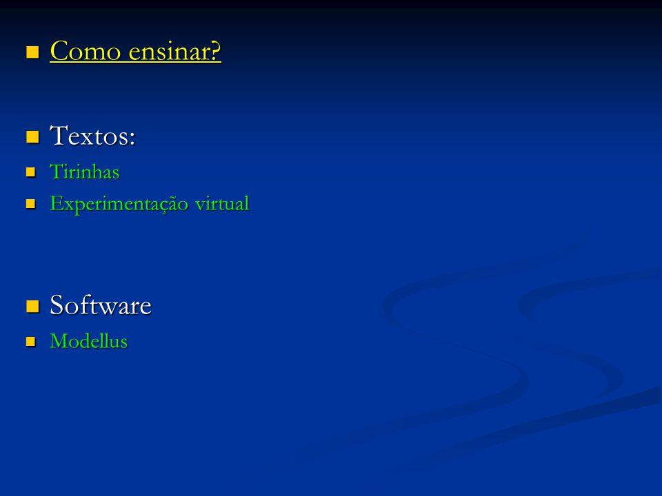 Como ensinar Textos: Software Tirinhas Experimentação virtual