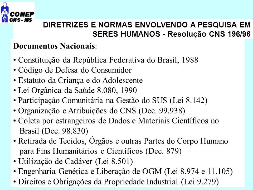 Documentos Nacionais: