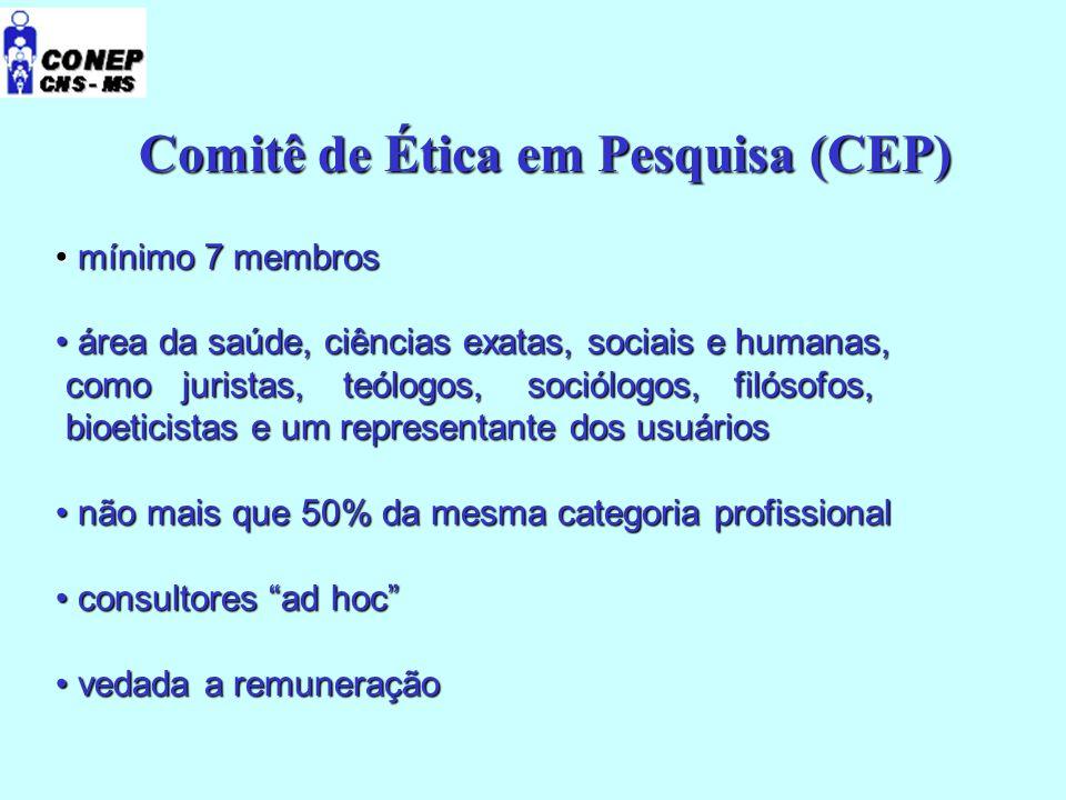 Comitê de Ética em Pesquisa (CEP)