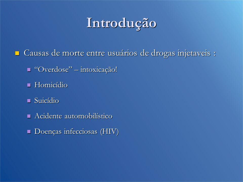 Introdução Causas de morte entre usuários de drogas injetaveis :