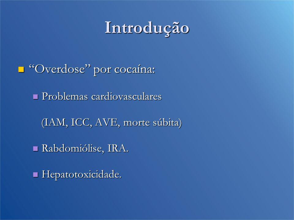 Introdução Overdose por cocaína: Problemas cardiovasculares