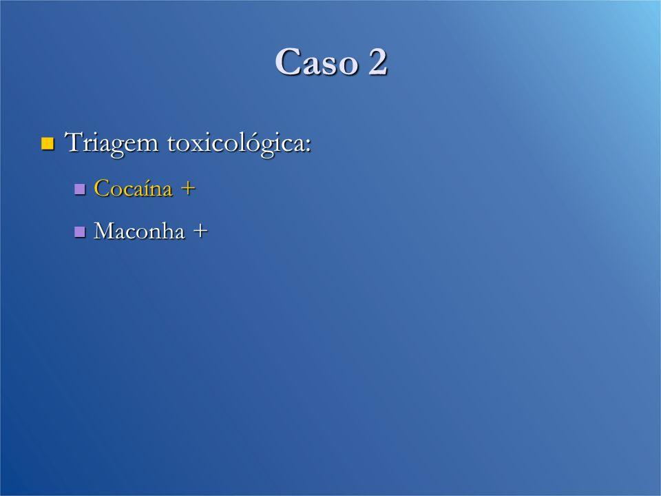 Caso 2 Triagem toxicológica: Cocaína + Maconha +