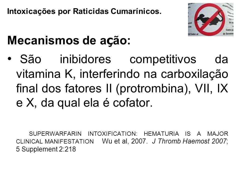 Intoxicações por Raticidas Cumarínicos.