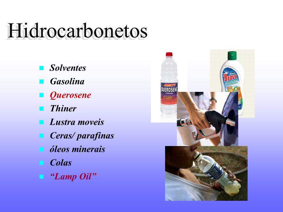 Hidrocarbonetos Hidrocarbonetos Solventes Gasolina Querosene Thiner